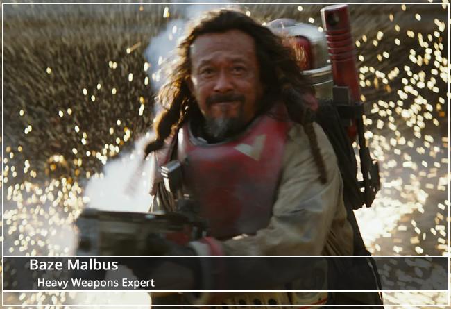 Baze Malbus - Heavy Weapons Expert
